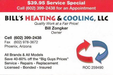 Bill's Heating and Cooling llc | Phoenix, AZ 85029